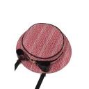 Personalized Creative Hat Shape Bow Embellishment Circle Crossbody Bag 25.5*7*25.7 CM