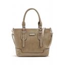 Cool Solid Color Rivet Embellishment Shoulder Bag Handbag 36*10*26 CM