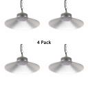 1/4 Pack Long Life Bay Lighting with Chain Aluminum 1 Light 100W Hanging Lamp for Supermarket