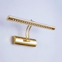 Bathroom Linear LED Wall Sconce Metal 16/21.5/27.5 Inch Modern Gold Mirror Light with White Lighting