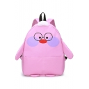 Cute Cartoon Pattern Big Capacity Canvas School Bag Backpack 38*28*11 CM