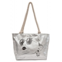 Fashion Personalized Figure Printed Shoulder Tote Bag 34*11*29 CM