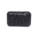 New Fashion Solid Color Sequined Evening Clutch Bag for Women 20*12 CM