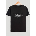 New Stylish Unique Letter DOG MOM Printed Short Sleeve Cotton Casual T-Shirt