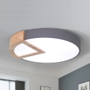 Nordic Style Round Ceiling Mount Light Acrylic Candy Colored Flush Light for Kid Bedroom