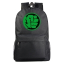 Simple Fashion Green Hand Print Casual School Bag Backpack 31*18*47 CM