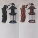 Retro Loft Kerosene Wall Lamp Metal 1 Light Black/Antique Copper Sconce Light with Plant Decoration for Hotel