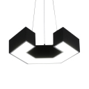 Nordic Style Nut Pendant Lamp Acrylic Black LED Hanging Light in Neutral/Warm/White for Office