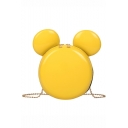 Lovely Mickey Mouse Shape Solid Color Round Crossbody Shoulder Bag 18*6*18 CM