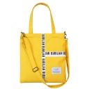 Popular Letter Patched Canvas College Shoulder Messenger Bag 35*37 CM