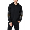 New Trendy NORMAL Letter Long Sleeve Regular Fit Drawstring Pocket Hoodie