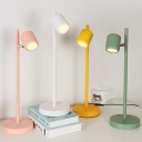 Switcher Control Dimmable Desk Lamp Macaron Colored Rotatable LED Study Light with Remote Controller for Bedroom