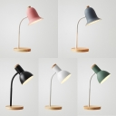 1 Light Bell/Dome Reading Light Contemporary Metal Macaron Colored LED Desk Lamp for Bedroom