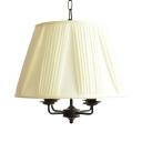 White Tapered Shade Pendant Light 4 Lights Modern Fabric Chandelier for Study Room Bedroom