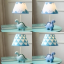 Cartoon Blue Reading Light Tanystropheus Eye-Caring Dimmable Desk Light for Child Bedroom