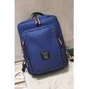 Fashion Leather Label Solid Color Nylon Leisure Travel Backpack Laptop Bag 39*29*10 CM