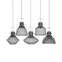 Single Light Mesh Cage Pendant Light Antique Style Metal Hanging Lamp in Black for Cafe Kitchen
