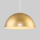Metal Domed Shade Pendant Lamp 1 Light Simple Style Hanging Light in Gold for Cloth Shop