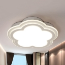 Girl Bedroom Bloom Flush Light Acrylic Contemporary LED Ceiling Lamp with Warm/White Lighting