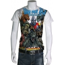 Mens Cool Film Poster King of the Monster Print Short Sleeve Fitted T-Shirt