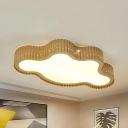 Living Room Scalloped Flush Mount Light Metal Creative Stepless Dimming/Third Gear/White Lighting Ceiling Lamp