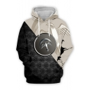 Hot Popular Game of Thrones House Badge Animal Printed Fashion Two-Tone Casual Sport Hoodie