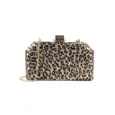 Hot Fashion Leopard Pattern Party Clutch Bag with Chain Strap 20.5*4.5*13 CM