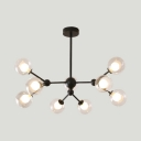 Chandelier Nodic Contemporary Sputnik Led Ceiling Light Modo Flush Mount Ligth in Painted Finish