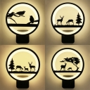 Creative Plant & Animal Wall Light Metal Black LED Sconce Light in Warm for Adult Kid Bedroom