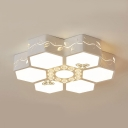 Flower Child Bedroom Flush Ceiling Light Acrylic Crystal Cute LED Ceiling Lamp with White Lighting