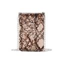 New Fashion Snake Skin Pattern Transparent Crossbody Cell Phone Purse 12*0.5*18 CM
