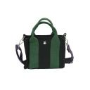 Stylish Color Block Wide Strap Canvas Shoulder Messenger Bag for Students 18*8*13 CM