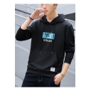 YES TO THE BEST Letter Patchwork Pocket Long Sleeve Unisex Drawstring Hoodie
