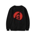 Popular Teen Wolf Printed Basic Round Neck Long Sleeve Pullover Sweatshirt