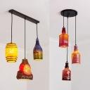 Bottle/Barrel & Bottle Pendant Lamp Resin 3 Lights Creative Ceiling Light for Bar Restaurant