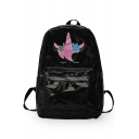 Creative Laser Unicorn Pattern Solid Color Student Backpack for Girls 36*26*11 CM