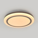 Simple Style Round LED Flush Light Acrylic Bright Light/Warm Yellow/Remote Control Stepless Dimming Ceiling Light