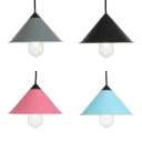 Cone Shade Dining Room Pendant Light Metal & Edison Bulb 1 Light Macaron Loft Pendant Lamp