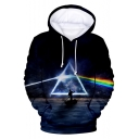 Unique Blue Galaxy Rainbow Triangle 3D Printed Long Sleeve Pullover Sport Unisex Hoodie