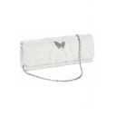 Popular Plain Metal Rhinestone Butterfly Lace Embellishment Evening Clutch Bag 24*5*6 CM