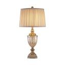 Creative Off-White Table Light Trophy Shape 1 Light Fabric Reading Light for Restaurant