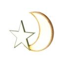 Modern Star Moon Ceiling Mount Light Acrylic LED Flush Light in Neutral/Warm/White for Kindergarten