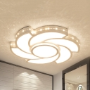 Bedroom Toy Windmill Ceiling Mount Light Acrylic Creative Third Gear/White Lighting LED Ceiling Fixture