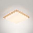 White Square LED Ceiling Mount Light Modern Acrylic Flush Light with Warm/White Lighting for Study Room