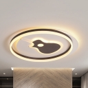 Contemporary Style LED Ceiling Fixture Guitar/Square Acrylic Flush Ceiling Light for Study Room