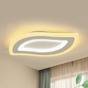 Acrylic Leaf LED Flush Ceiling Light Hallway Cute Stepless Dimming/Warm/White Lighting Ceiling Lamp