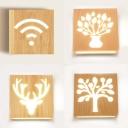 Creative Led Lighting Nature Wood Acrylic Shade Wall Lighting for Hallway