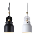 Angle Adjustable Modern Bowl Wall Light Metal One Head Black/White LED Wall Sconce for Bedroom