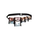 New Fashion Plain Multi-pocket Laser Tactical Crossbody Belt Bag 40*4*16 CM