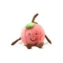 Cute Cartoon Peach Shape Watermelon Red Plush Crossbody Bag with Chain Strap 22*29*10 CM
